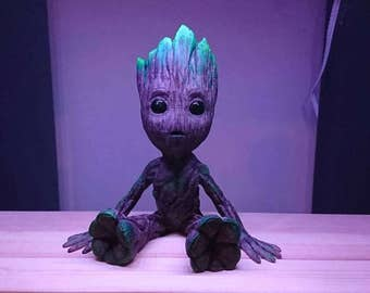 3D printed and hand painted Baby Groot