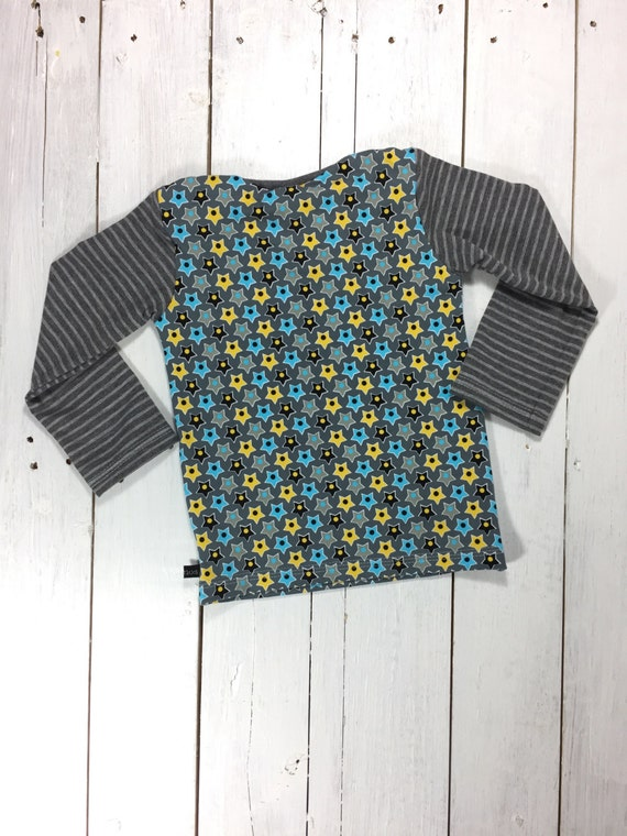 e657ec40c66 Gr. 92 children shirt Star made of cotton jersey in by Liolinos lovely