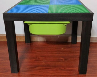 Lego - Brick Building - Table with Storage  **Color Choices Available**