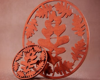 Unique Coaster Homemade Trees and Leaves Collection