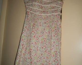 Vintage White Multi-Color Floral Lined Sundress Size 2
