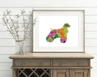 Afghan Dog Print - Dog Artwork, Afghan Hound Art, Afghan Watercolor Art, Afghan Poster, Afghan Wall Art, Printable Afghan Art, Digital Art