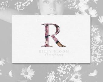 Monogram Flower Photography Logo. Photographers. Logos and Watermarks. Premade Logo Design. P22.