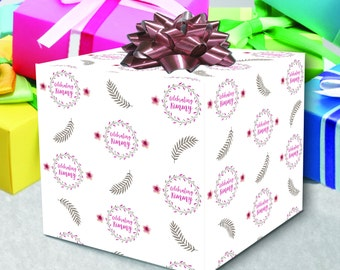 Personalized Wrapping Paper Celebrate