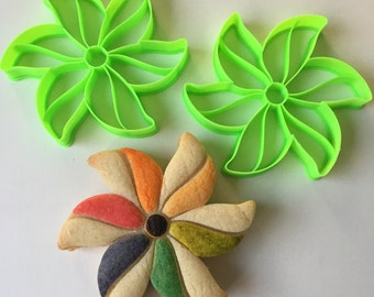 Rainbow Pinwheel Cookie Cutter Set