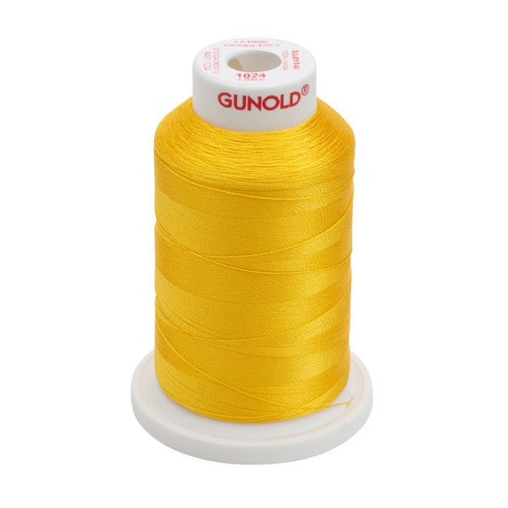 1024 Goldenrod Gunold Thread - 40 WT SULKY RAYON Mini King Cones 1100 Yds - Machine Embroidery ...