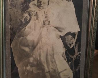 Antique post mortem cabinet card