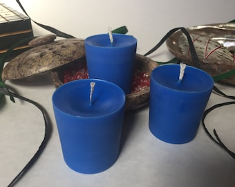 Blue Soy Wax Votives