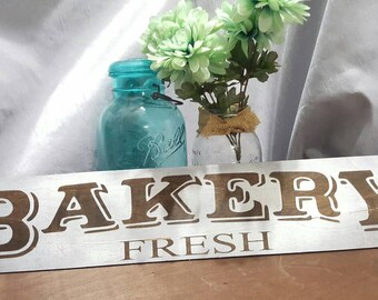 BAKERY FRESH hand made painted wood sign