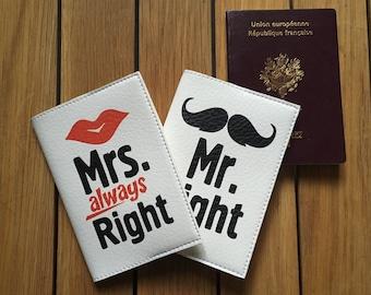 Pack wedding - Honeymoon - two cases Leather passport - Mr. & Mrs
