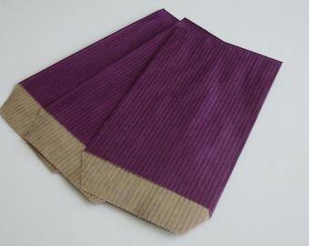 50 7 cm * 12 cm Eggplant Kraft gift bags pouches