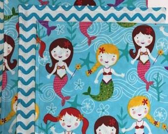 Lunchbox napkins - Mermaids! Set of 5