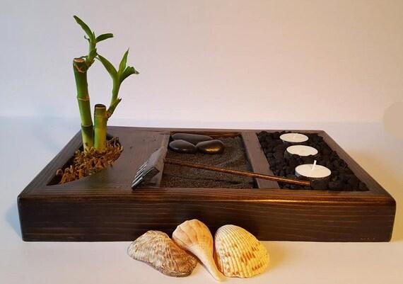 Deluxe Zen Garden Kit/ Rock Garden/ Meditation Garden/ Japanese Rock Garden/ Sand Garden/ Desktop Zen Garden/ Zen Garden/ DIY Garden Kit