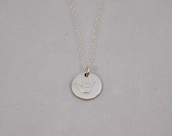 Sterling Silver Shaka Necklace