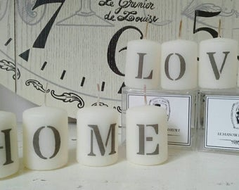 Set of 4 candles
