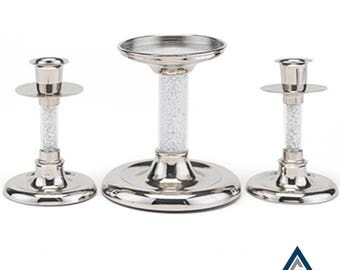 Glittering Beads Candle Stand Set