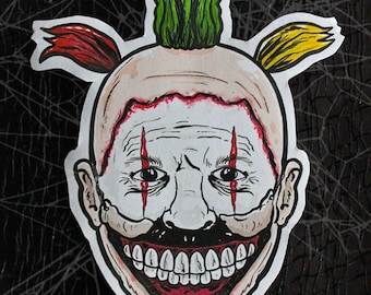 American Horror Story Twisty the Clown Inspired Large Paper Sticker