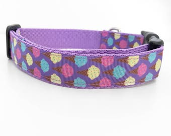 Purple Ice Cream Dog Collar