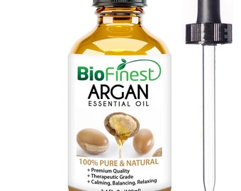 Organic Argan Oil for Hair, Face & Skin - 100% Pure, Natural, Cold Pressed - Certified Organic Virgin Oil From Morocco
