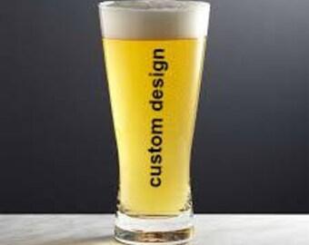 Personalized Beer Glasses, Groomsmen Gift