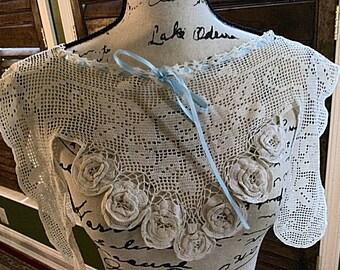 Victorian crocheted collar