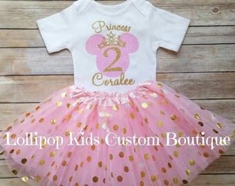 Birthday Girl Shirt Pink & Gold Glitter *vinyl*