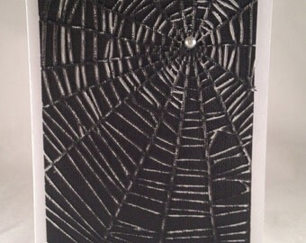 Set of 5 Spider Web CLASSIC Halloween Cards