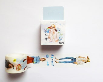 Girl Illustration Washi Tape, Kawaii Washi Tape Roll, Fashion Model Outfit, Washi Tape