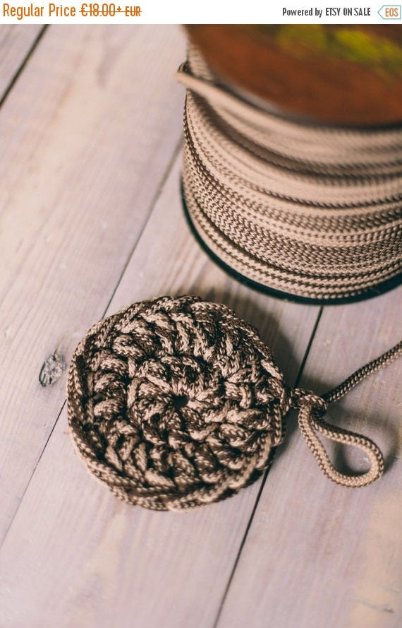 MIXED BROWN yarn, diy crafts, craft supplies, diy projects, colored rope, chunky yarn, craft yarn, rope cord, polyester cord. #4/8