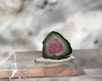 3.6 ct watermelon tourmaline slice from Kunar,Afghanistan E28