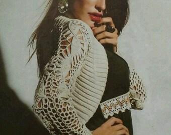 Off  White crochet bolero, lace shrug, evening coverup, lace shrug, crochet wrap, lace shoulderwarmer, crochet lace bolero, bridesmaid shrug