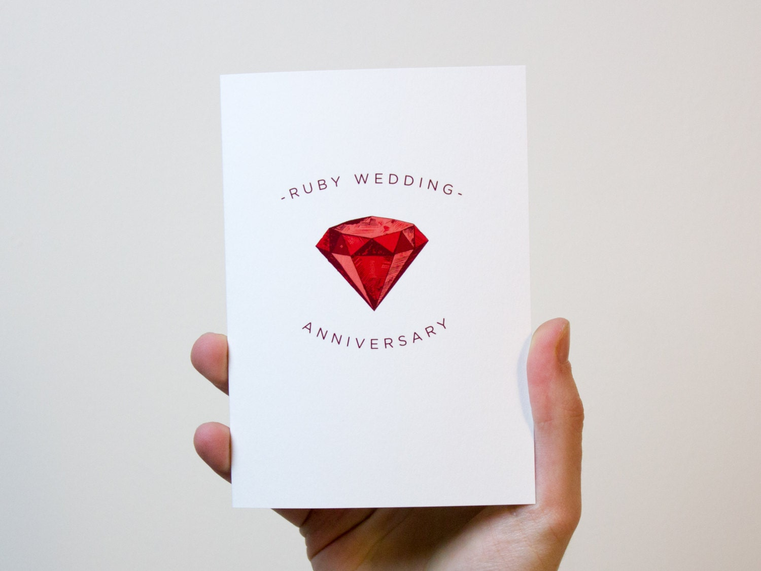 Ruby Wedding Anniversary Gifts: Ruby Wedding Anniversary Card 40 Year Wedding Anniversary