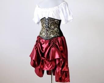 50% OFF Steampunk costume Womens pirate costume Victorian Bustle skirt corset medieval renaissance steampunk clothing ren faire costume