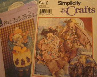 Two Vintage Dolls and Animals Patterns