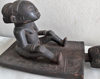 Early African Congo Luba tribal art 'Lukasa' memory/ancestor board