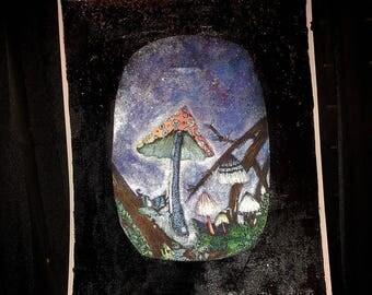 Magick Mushroom pop-up Art