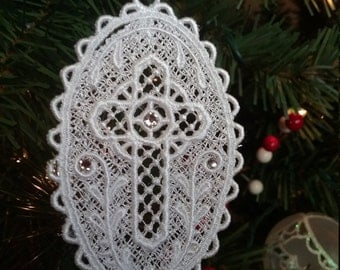 Swarovski  Crystal embroidered snowflakes  BEAUTIFUL