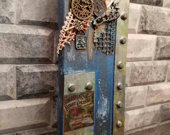 Good Steampunk Wall Art. On Stretched Canvass, Oxidized Copper. Part 23