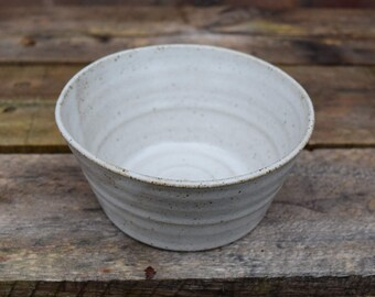 Tapas Bowl *Made to order* Handmade small ceramic bowl for dips, olives or snacks with a white stoneware speckled glaze