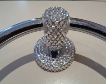 Towel ring holder crystalised with clear luxury Czech crystals.