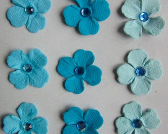 BLUE FLOWERS - Hand made in India