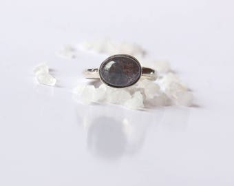 Navy silver ring and the Iolite stone