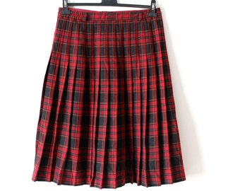 Vintage WESTERLINDS Skirt, Westerlind Plaid Accordion Skirt, Checkered Skirt, Made in Portugal, Size 40