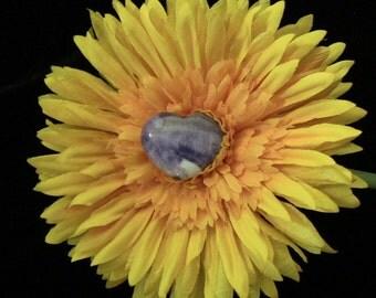 Small Amethyst Heart - 30 mm - Spiritual Awakening, Intuition, Inner Peace