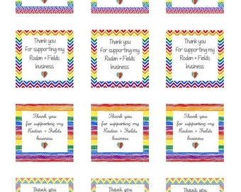 Thank You for your business Labels (Rainbow Variety) Instant Download