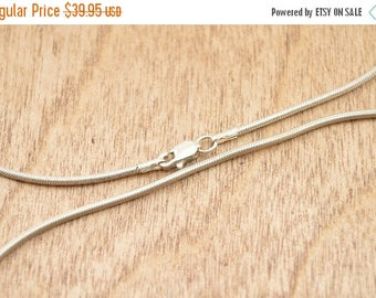 On Sale Snake Chain Necklace Sterling Silver 18.8g