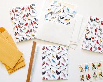 Set of Six Greeting Note Cards