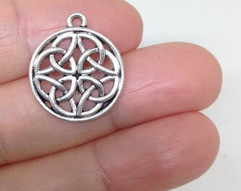 4 Celtic Knots Charm, Celtic Charm, Jewelry Findings, Jewelry Supplies