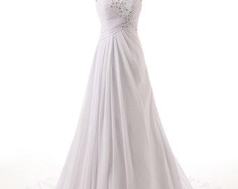 Wedding Dress/Chiffon A-Line Sweetheart Bridal Dress/Prom Dress