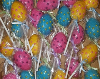 Easter Eggs Chocolate Lollipops - set of 12